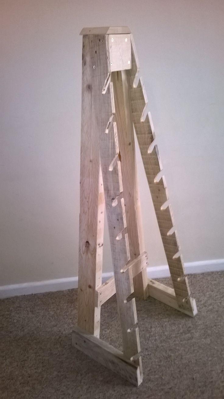 Skateboard rack made from reclaimed wood. www.facebook.com/remadeinnorfolk