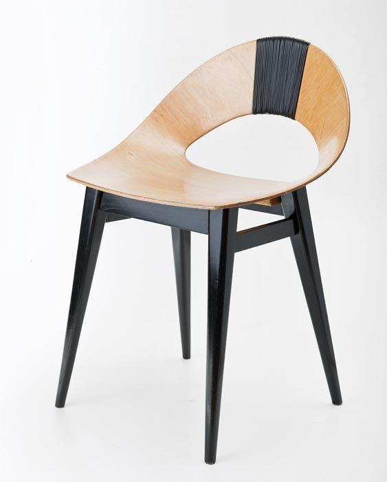 """Teresa Kruszewska, krzesło """"Muszelka"""", wyprodukowane przez Spółdzielnię Artystów Plastyków ŁAD, 1956"""