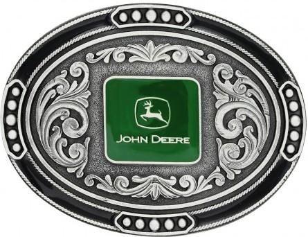 John Deere Cable Track Oval Belt Buckle