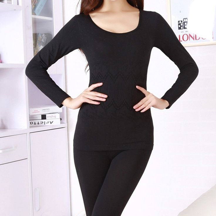 Women winter thermal underwear suit thick velvet ladies thermal underwear women clothing female long johns