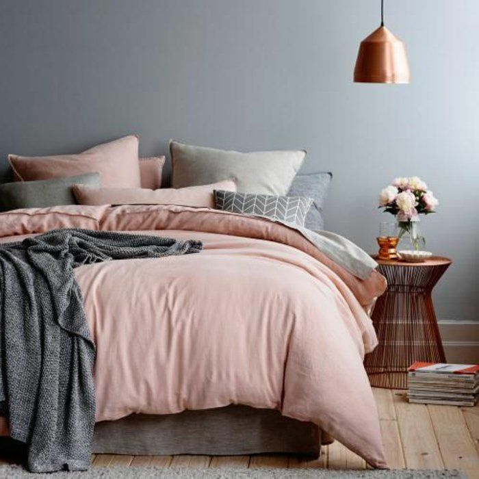 le linge de lit en lin la parure de lit cosy et naturelle lits pinterest. Black Bedroom Furniture Sets. Home Design Ideas