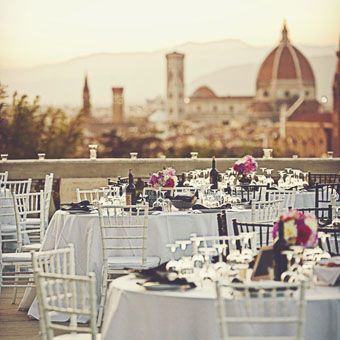 Dream wedding reception spot: overlooking the duomo of Florence, Italy