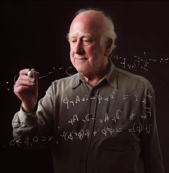 """Peter Higgs CH FRS FRSE theoretical physicist, Nobel Prize laureate and emeritus professor. Best known for his theory, explaining the origin of mass of elementary particles in general and of the W and Z bosons in particular. This so-called Higgs mechanism, which was proposed by several physicists besides Higgs at about the same time, predicts the existence of a new particle, the Higgs boson (which was often described as """"the most sought-after particle in modern physics"""