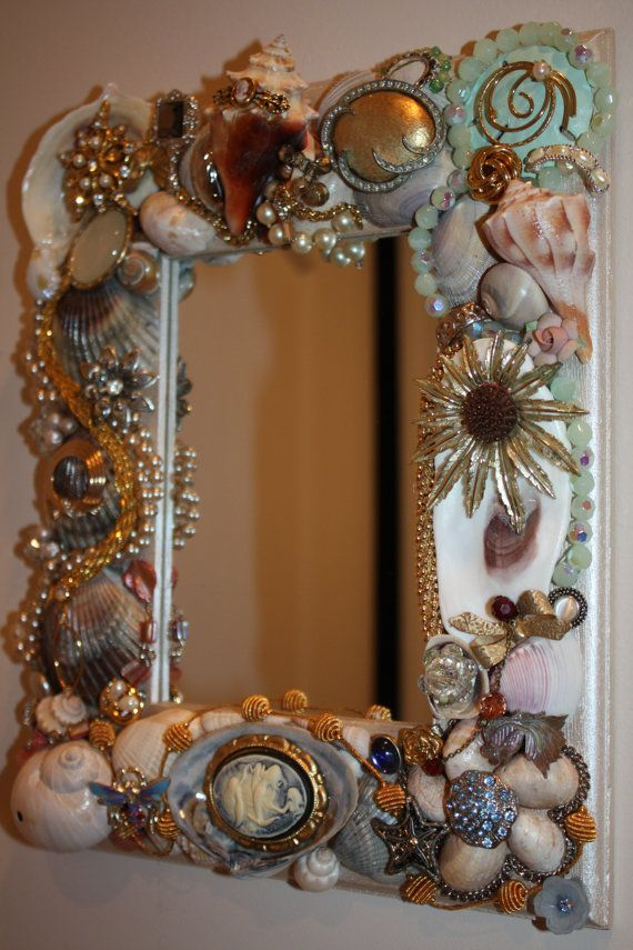 25 Best Ideas About Sea Shell Mirrors On Pinterest
