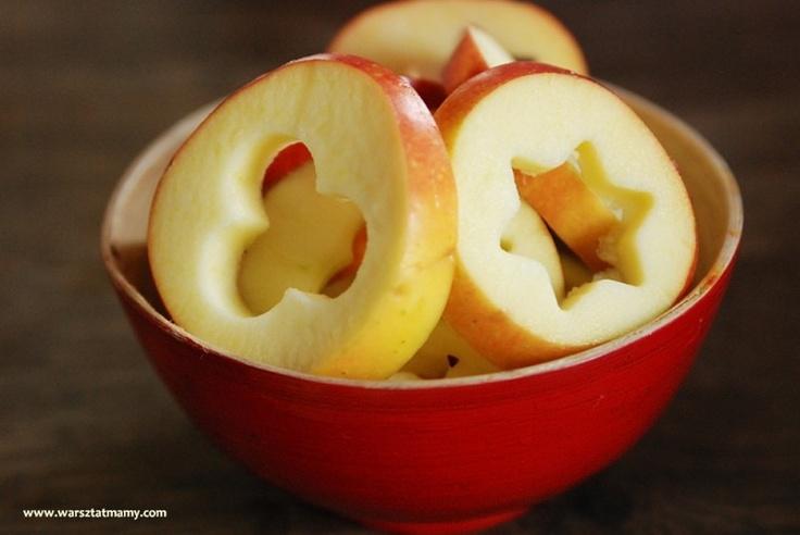 cutting apples - fun for kids