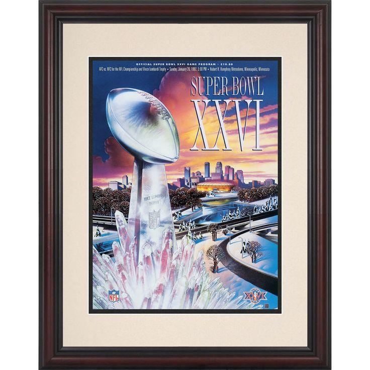 "Fanatics Authentic 1992 Washington Redskins vs. Buffalo Bills 8.5"" x 11"" Framed Super Bowl XXVI Program"