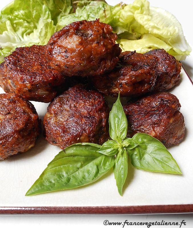 Boulettes d'aubergine et champignons (vegan)