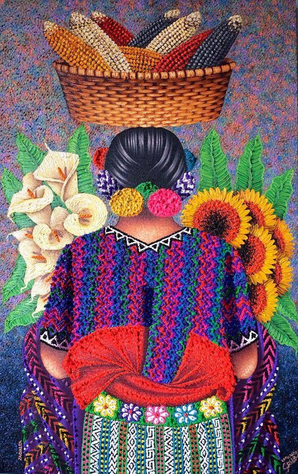 Vendedora de maiz. Guatemala. Pedro Arnoldo cruz sunu.