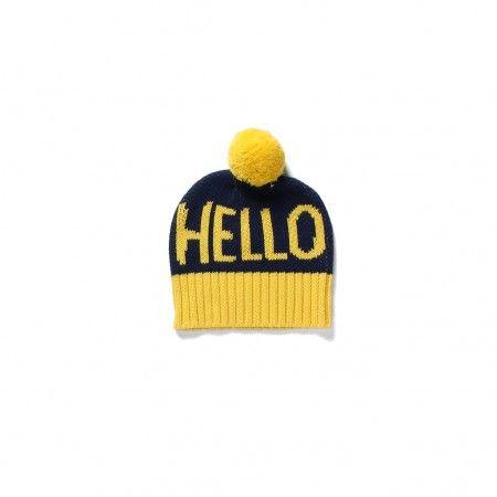 Hello Beanie - Midnight / Yellow