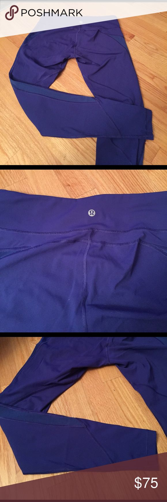 Blue ankle length yoga pants from Lululemon Blue ankle length yoga pants from lululemon lululemon athletica Pants Leggings