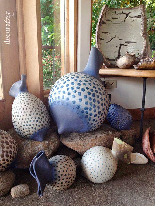 Jarrones de cerámica orgánica de taller de Gema Ossenbach
