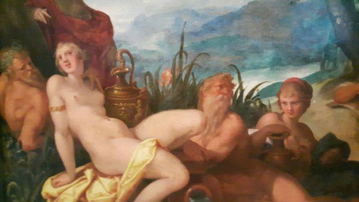 Contesa tra Apollo e Pan di Norimberga.  Dettaglio