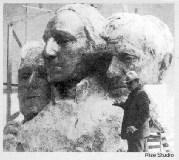 Sketches in Plaster in the planning of Mount Rushmore.