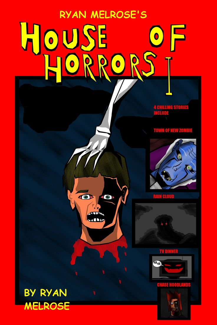 Ryan Melrose's House of Horrors has been a project on the table for years and am happy to say It's finally finished this 63 page graphic novel has a collection of some of my short scary stories I wrote in my High School days I have brought these stories to life to life in this masterpiece exactly th