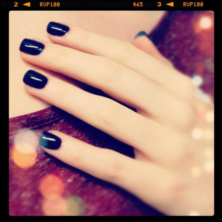 Dark purple short square acrylics | Nail art by me ...