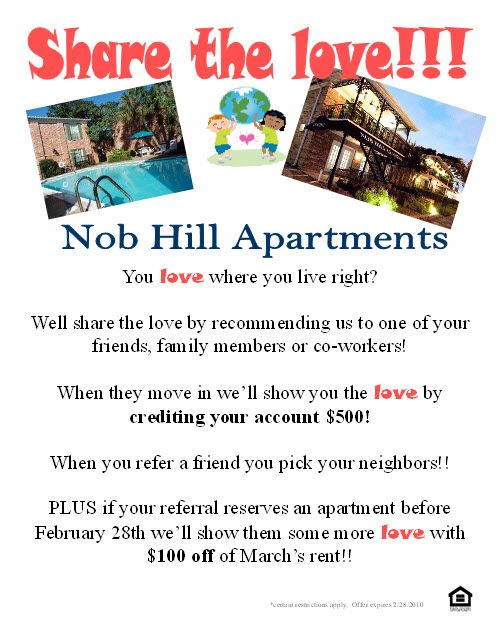 apartment flyers free templates - resident referral flyer ideas apartment ideas