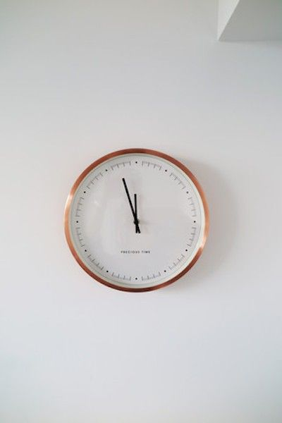 The Copper Aurelia Clock is simple but stylish - the perfect modern addition to Sonny's white wall | made.com/unboxed