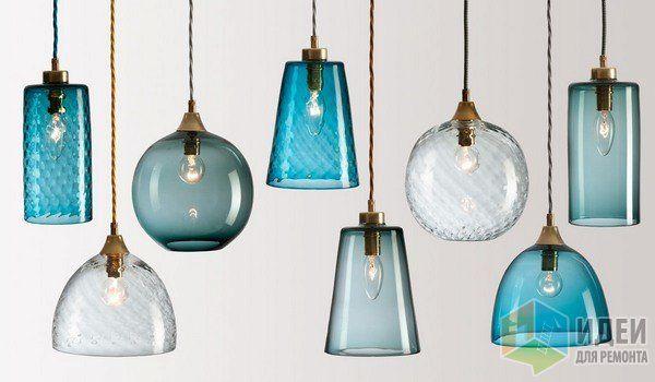 Стеклянные светильники, дизайнерские светильники из стекла, цветные стеклянные плафоны, потолочные светильники, люстры Rothschild & Bickers, Pick-n-Mix / Идеи для ремонта