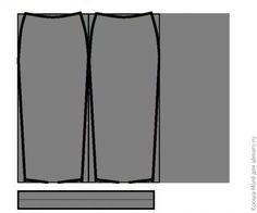 Выкройка юбки карандаш из трикотажа / Хенд мейд