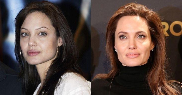 """Na virada dos anos 90 para os 2000, Angelina Jolie mantinha suas sobrancelhas bem fininhas e arqueadas --o que ajudava a sustentar a fama de """"bad girl"""" que possuía na época. Hoje em dia, o posto da atriz, diretora e ativista possui sobrancellhas mais grossas e com desenho mais suave"""