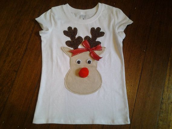 Hey, I found this really awesome Etsy listing at https://www.etsy.com/au/listing/253263110/size-5-white-t-shirt-reindeer-applique