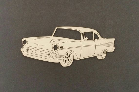 1957 Chevrolet voiture Sticker bois de par ChildersWoodWorks