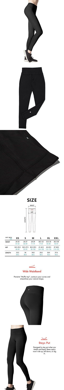 Lapasa Women's Yoga Pants Leggings High Waist Tommy Control Workout Running Tights w Hidden Pocket L01 (Medium, Black)