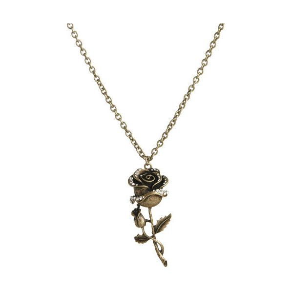 Rose Stem Pendant Neckalce - Teen Clothing by Wet Seal ($22) ❤ liked on Polyvore featuring jewelry, necklaces, accessories, collares, colares, collar necklace, collar jewelry, rose jewelry, pendant jewelry and wet seal necklaces