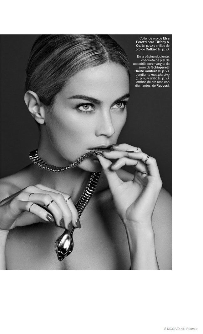 Carolyn Murphy Dons Jewelry for S Moda Shoot by David Roemer