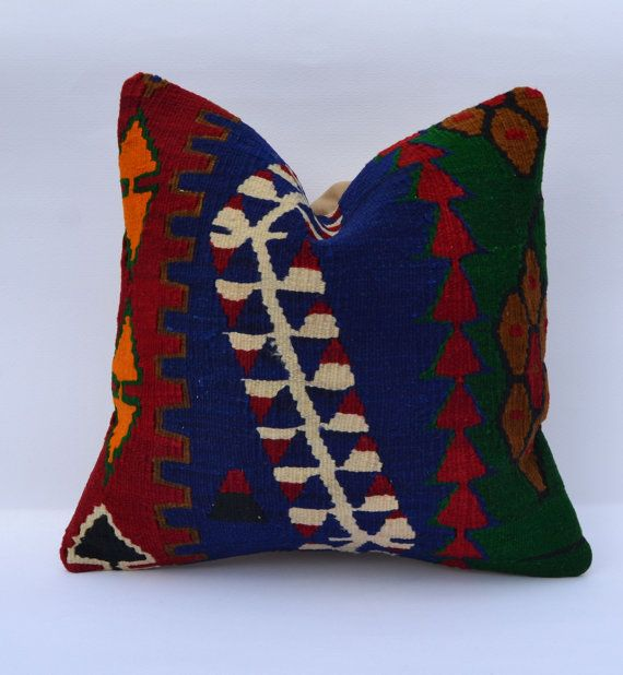 Hey, I found this really awesome Etsy listing at https://www.etsy.com/listing/184038685/rustic-decorative-throw-pillow-kilim