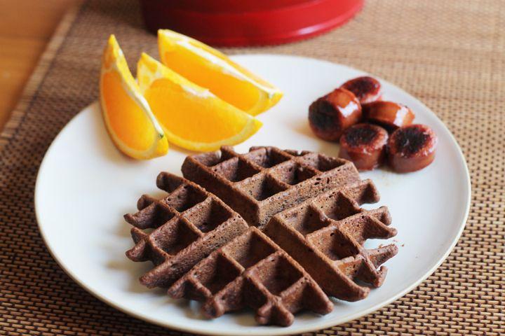 Banana Brownie Waffle