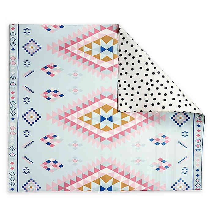 Play With Pieces Reversible Playmat In 2020 Floor Mats Polka