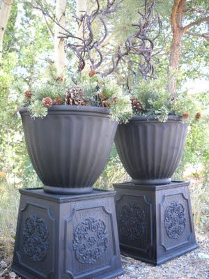Diy Planters With Spray Paint And 2 Planters Glued 400 x 300