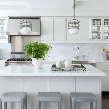 Pale Gray Island with Emeco Counter Stools