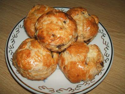 Mazsolás scone, avagy mazsolás skót pogácsa