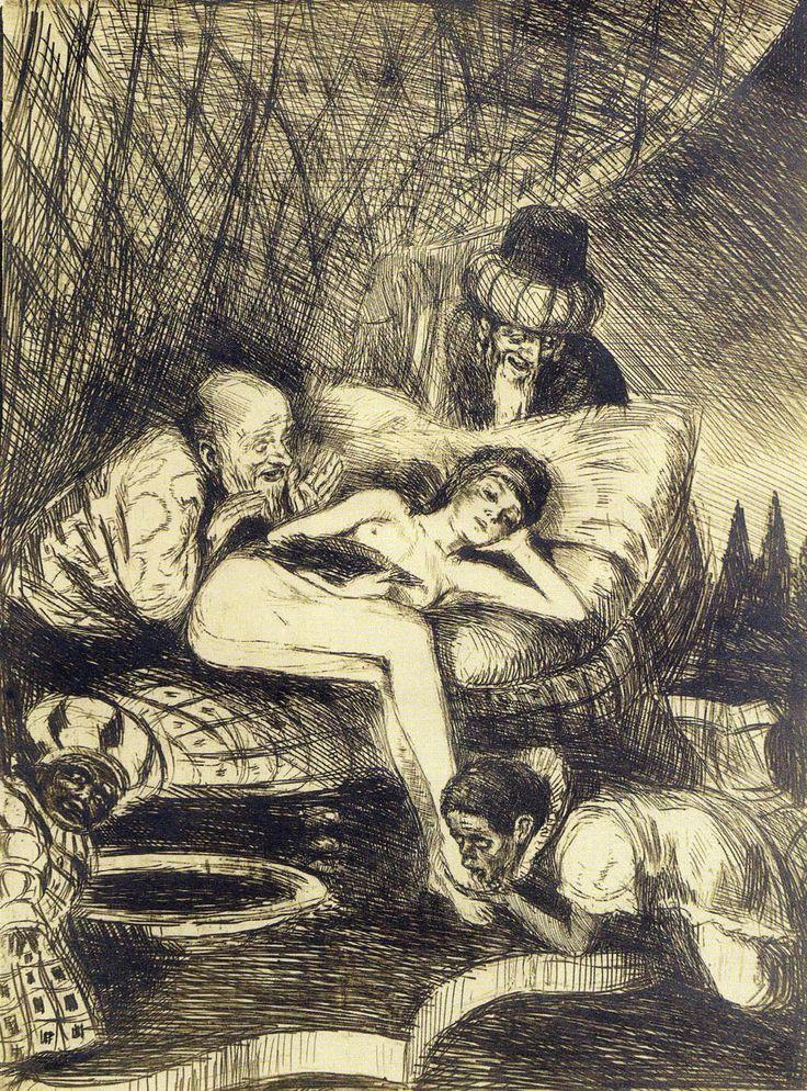 """Zuzanna i starcy (Susanna and the Elders) Bruno Schulz 1920~1922 """
