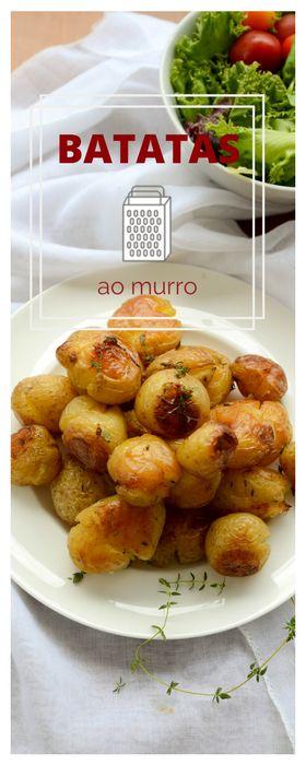 Batatas ao murro - batata bolinha assada