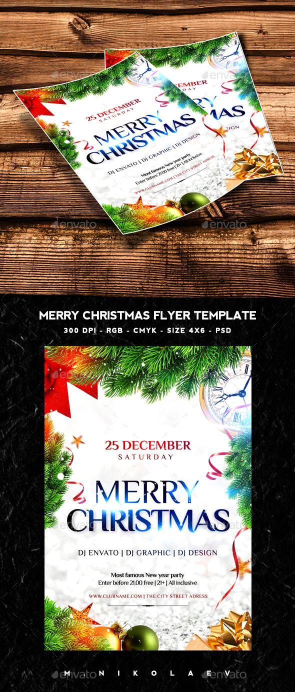 Merry Christmas Flyer Template PSD #design #xmas Download: http://graphicriver.net/item/merry-christmas-flyer/13497121?ref=ksioks