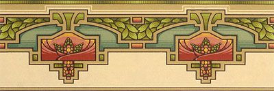 Bradbury Arts & Crafts Home Design | Arcadia Wallpaper Border in Thatch - 9 inch border, works out just over $15 per yard.