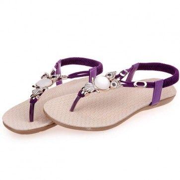 Violet Flip Flop Chaussures A HIBOU