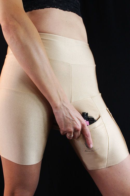 Concealed carry thigh holster spanx-like shorts