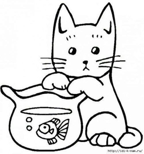 шаблоны кошек и котов, трафареты кошек и котов, Хьюго ...