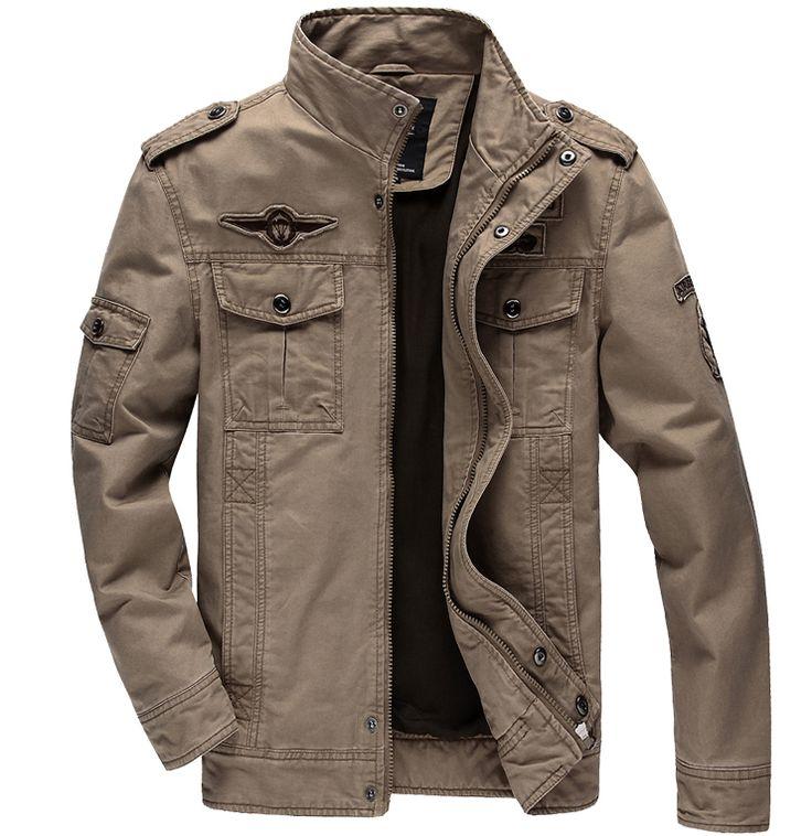 6XL homem Casual casacos de inverno casacos Homens do Exército Tropa Homens homens jaqueta masculina Roupa casaco primavera casaco cáqui verde