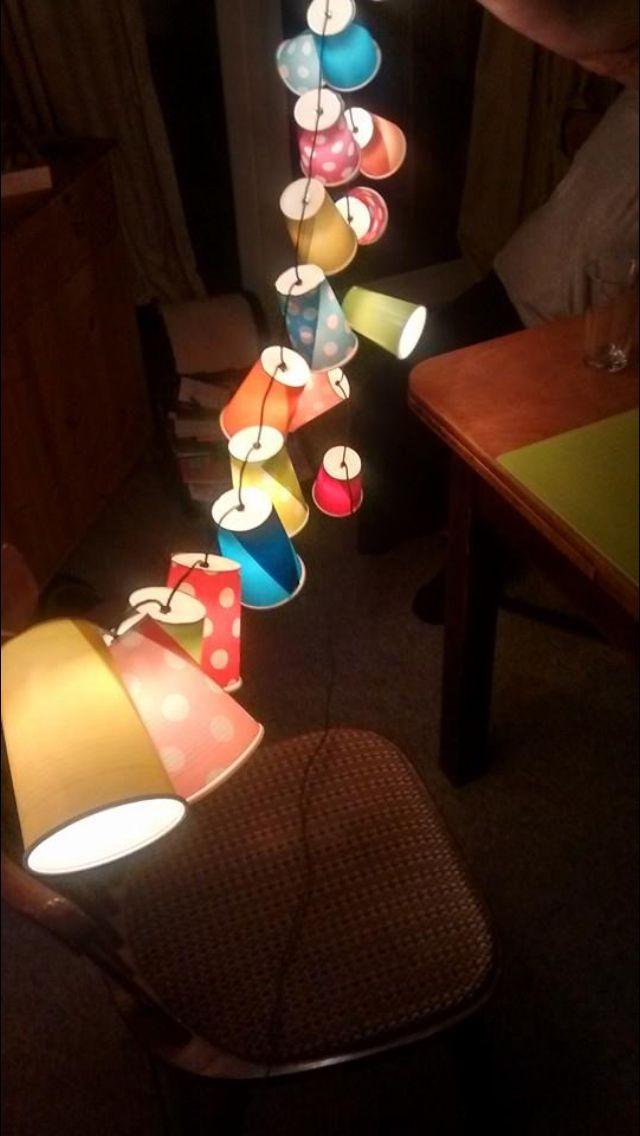 Lyskæde med plastik kopper