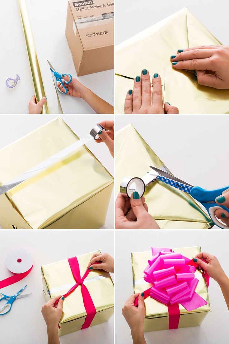 Wrapping tips for gorgeous gifts every time brit co - Bling Out Your Gifts With Metallic Wrapping Hacks