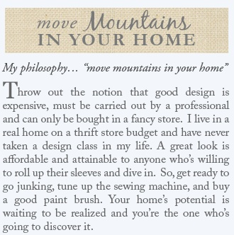 Miss Mustard Seed — Move Mountains In Your Home