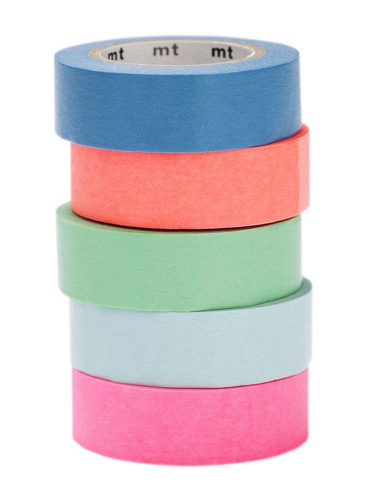 MT pásky SINGLE monochrom, Mt tapes, washi tapes, japonské dekorační lepicí pásky z rýžového papíru, transparentní, popisovatelné, odnímatelné, designové, hravé dekorace, papelote - nové české papírnictví