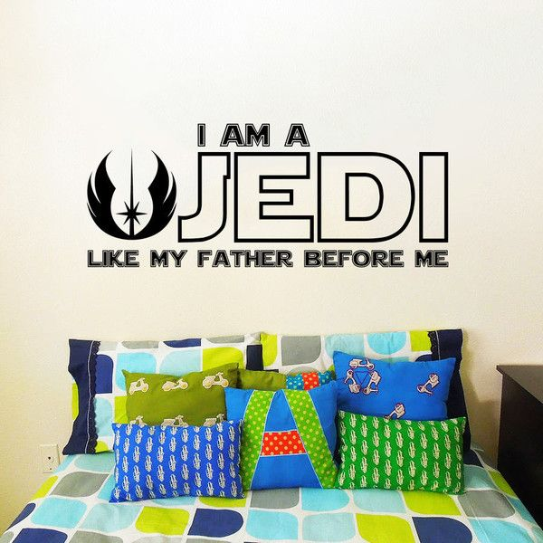 Star Wars Wall Decal Quote Luke Skywalker I Am A Jedi Like My Father. Part 86