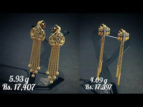 d32c58e80 Gold Earrings designs with WEIGHT and PRICE from bluestone - YouTube ...