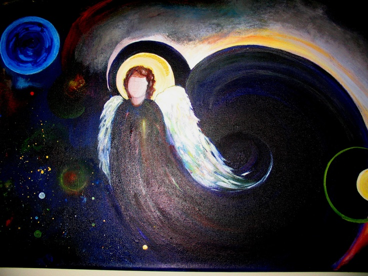 Angel in the morning.Painting by Arlyn sold
